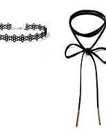 Жен. Ожерелья-бархатки Бижутерия Одинарная цепочка В форме цветка Кружево Бархат Уникальный дизайн В виде подвески Классика Сделай-сам