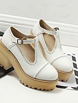 Women's Heels Comfort PU Casual Creepers