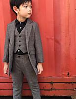 Мальчики Наборы Нарядная Спандекс Геометрический принт Лето Зима Набор одежды