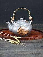 Dark Hight Temperature Porcelain Tea Pot with Barley Design