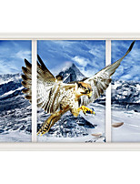 Snow Mountain Eagle 3D Sitting Room The Bedroom Decorates A Wall Post