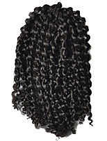 1 Pack 8inch Natural Black 2# Curly Afro Kinky Mali Bob Braids Hair Extensions Kanekalon Hair Braids 30g (5-6pack/head)