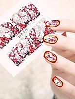 10pcs/set Стикер искусства ногтя Вода Передача Переводные картинки макияж Косметические Ногтевой дизайн