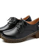 Women's Boots Spring Fall Slingback PU Casual Chunky Heel Block Heel
