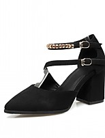 Women's Sandals Summer Comfort Leatherette Office & Career Dress Casual Chunky Heel Block Heel Buckle