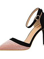 Women's Heels Spring Summer Fall Winter Club Shoes Comfort PU Glitter Wedding Party & Evening Dress Stiletto Heel Sequin Split Joint