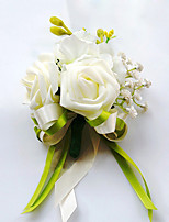 Wedding Flowers Free-form Roses Boutonnieres Wedding Party/ Evening Green Satin