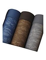 3Pcs/Lot Men's Fashion Sexy Print Skull Boxers Underwear Perspective Cotton Modal Panties Size L-XXXL