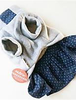 Chien Robe Vêtements pour Chien Printemps/Automne Dessin-Animé Mignon Noir Gris