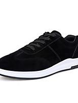 Белый Черный-Для мужчин-Повседневный Для занятий спортом-Тюль Полиуретан-На плоской подошве-Удобная обувь-Кеды