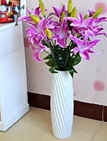 1 Branch Fiber Lilies Tabletop Flower Artificial Flowers