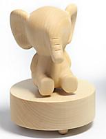 Music Box Elephant Leisure Hobby Novelty Wood
