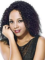 nyanländ människohår fullt spets peruk naturliga färg jerry curl limfria fullt spets peruk 150% densitet sidodelen med baby hår spets