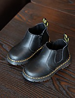 Boys' Boots Spring Fall Comfort Cowhide Casual Flat Heel