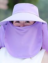 Для женщин На каждый день Шляпа от солнца,Лето Полиэстер Однотонный