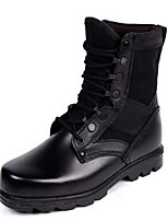 Men's Boots Spring Fall Winter Comfort Leather Office & Career Casual Black Brown
