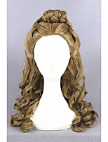 perruque de cheveux moyen cendrillon long vague brune 22inch synthétique l'anime lolita cosplay perruque cs-250a