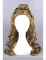 forma de onda longa cinderella peruca castanho 22 polegadas sintético cosplay anime cabelo lolita peruca cs-250a