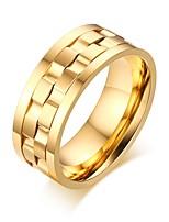 Кольцо Титановая сталь Круглой формы Геометрический Золотой Серебряный Бижутерия Повседневные 1шт