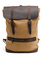 15.6 Inch Computer Shoulder Bag Cotton Canvas Leisure Climbing Backpack