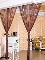 פאנל אחד טיפול חלון גס ניאוקלאסי , מוצק חדר שינה פוליאסטר חוֹמֶר דלת לוח וילונות וילונות קישוט הבית For חַלוֹן