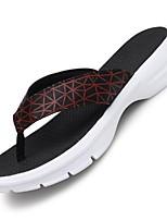 Черный Синий Черно-белый-Для мужчин-Для прогулок Повседневный-Дерматин-На низком каблуке-Удобная обувь Светодиодные подошвы-Тапочки и