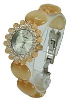 Women's Fashion Watch Quartz Jade Band Yellow