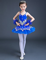 Shall We Ballet Dresses Kid Performance Spandex Tulle Crystals/Rhinestones Paillettes / Lace 3 Pieces Dance Costume