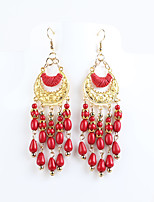 Drop Earrings Alloy Bohemia Statement Jewelry Black Red Blue Jewelry Daily Casual 1 pair