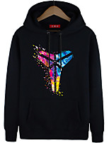 Men's Casual/Daily Going out Simple Street chic Punk & Gothic Hoodie 3D Print Print Color Block Embroidered Beaded Round Neck Inelastic