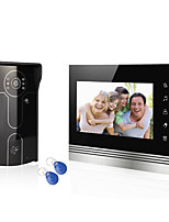 Home System Wired 7 Video Door Phone Intercom Entry System 1 Monitor  1 RFID Access Camera with Users Card