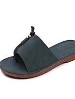 Women's Slippers & Flip-Flops Spring Summer Comfort PU Casual Flat Heel