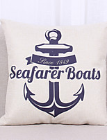 1 pcs Linen Pillow Case Pillow Cover,Nautical Still Life Graphic Prints TexturedCasual Office/Business Outdoor Euro Tropical