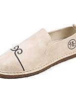 Белый Черный Зеленый-Для мужчин-Повседневный-Микроволокно-На плоской подошве-Удобная обувь-Мокасины и Свитер