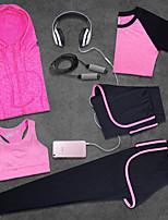 Жен. Бег Дышащий Пригодно для носки Лето Йога Аэробика и фитнес Целлюлозная ткань Шелковая ткань ТонкиеВ помещении Одежда для отдыха на