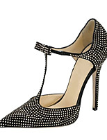 Women's Sandals Summer D'Orsay & Two-Piece Leatherette Party & Evening Dress Stiletto Heel Bowknot Polka Dot