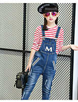 Girls' Going out Casual/Daily Solid Overall & Jumpsuit Spring Fall
