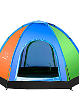 5-8 persons Tent One Room Camping Tent Well-ventilated Portable-Camping-Pink Light Blue Purple