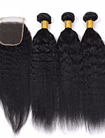 Natural Color Hair Weaves Peruvian Texture 12 Months 4 Pieces hair weaves