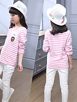 Casual/Daily Sports School Solid Blouse,Nylon Spring Fall 3/4 Sleeve Long