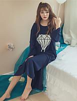 Bustiers Correspondants Vêtement de nuit Femme,Dentelle Couleur Pleine-Mince Coton Aux femmes