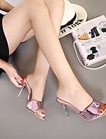 Women's Slippers & Flip-Flops Comfort PVC Casual Stiletto Heel