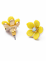 Stud Earrings Jewelry Flower Style Euramerican Fashion Personalized Chrome Jewelry For Wedding Party Birthday Gift 1 pair