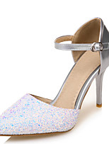 Women's Shoes Stiletto High Heel Pointed toe Rhinestone Ankle Strap Pump More Color Available