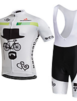 AOZHIDIAN Summer Cycling Jersey Short Sleeves BIB Shorts Ropa Ciclismo Cycling Clothing Suits #AZD149