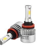 H11 llevó los faros llevó los bulbos de la linterna con 2 PC de los kits de la conversión la luz de niebla de las virutas de la viruta del
