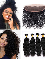 Natural Color Hair Weaves Malaysian Texture Deep Wave 12 Months 5 Pieces hair weaves