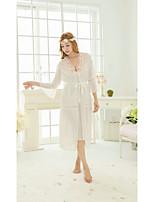 Women's Babydoll & Slips Nightwear,Lace Solid-Medium Chiffon Women's