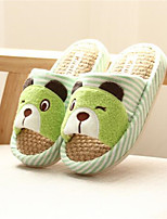 Коричневый Красный Зеленый-Девочки-Для прогулок Повседневный-Полотно-На плоской подошве-Удобная обувь-Сандалии