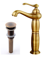 Antique Country Modern Centerset Widespread Pre Rinse with  Ceramic Valve Single Handle One Hole for  Antique Copper , Bathroom Sink